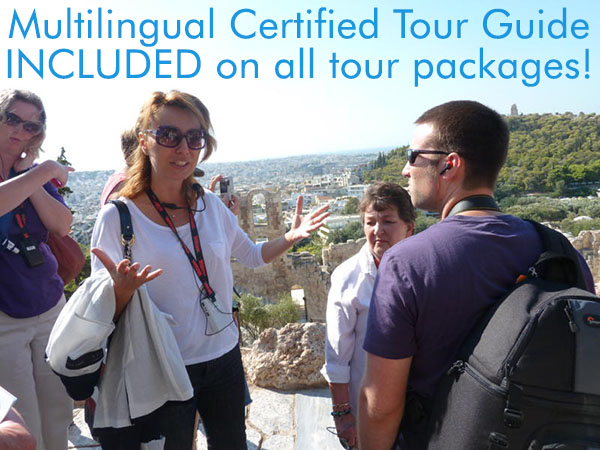 Multilingual Certified Tour Guide INCLUDED on all tour packages