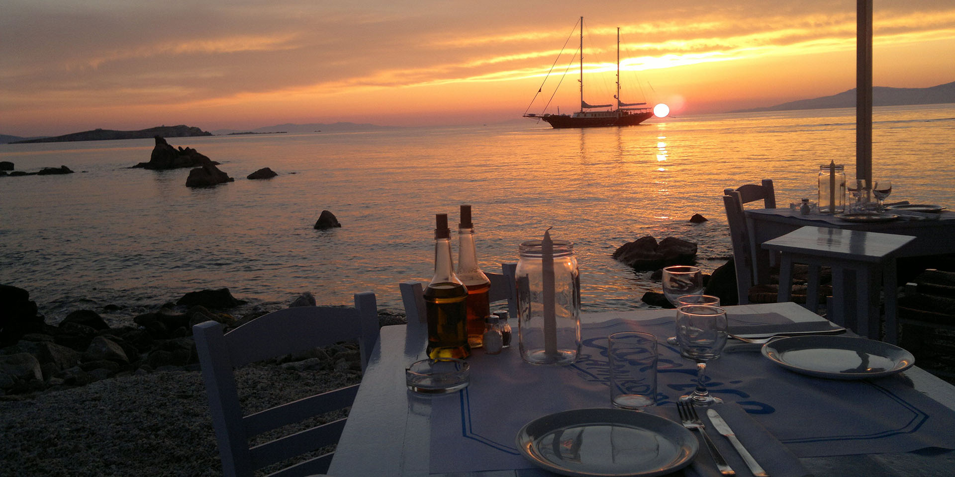 Best Place for Sunset Dinner in Mykonos Island